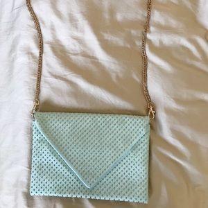 Handbags - Mint Green Studded Crossbody Bag